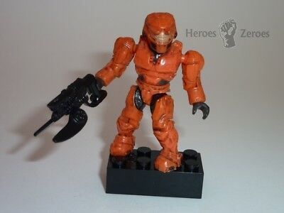 Halo Mega Bloks Series 3 UNSC Orange Spartan with Spike Rifle Common