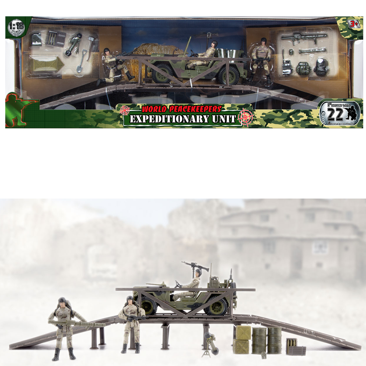 World Peacekeepers Expeditionary Unit -- Military Army Toy -- 1:18 Scale