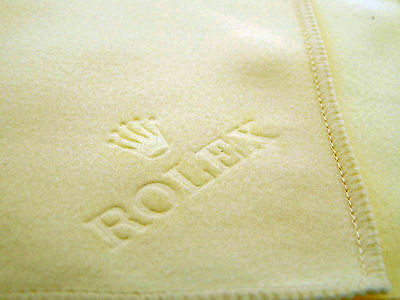 New Genuine Rolex Cream Watch Cleaning Polishing Cloth