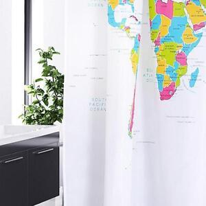 Mappa Del Mondo Fantasia Design Bagno Tenda Doccia in Poliestere ...