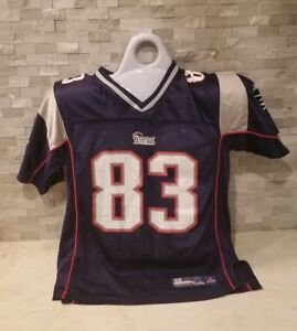 5898492f Details about REEBOK WES WELKER #83 NEW ENGLAND PATRIOTS BLUE NFL JERSEY  YOUTH LARGE