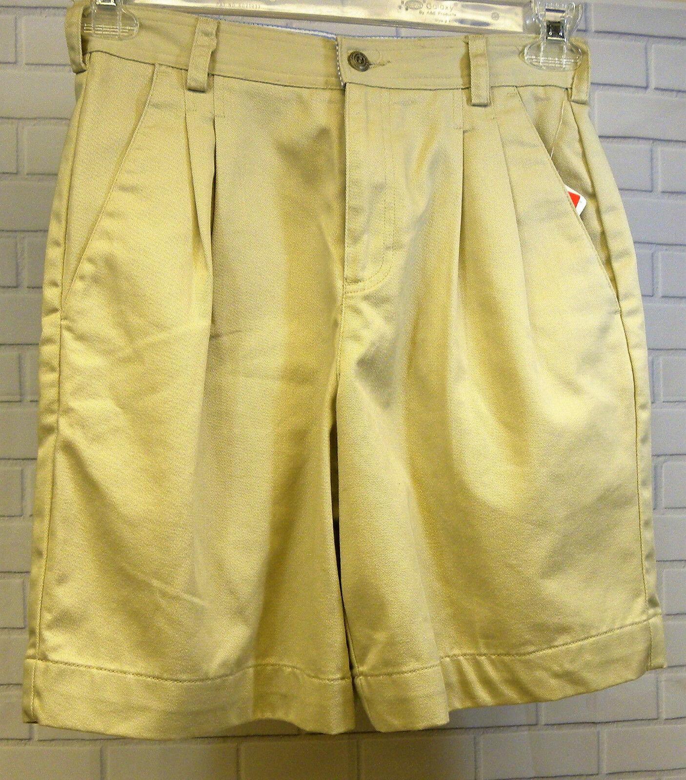 Liz Claiborne Khaki Shorts Size 4 Cotton Pleat Front Walking Casual New