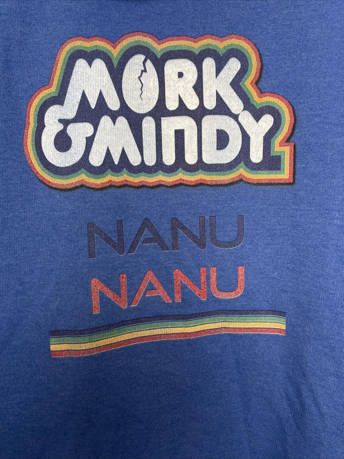 Mork And Mindy Nanu Nanu Blue Sweatshirt Size 2XL… - image 3
