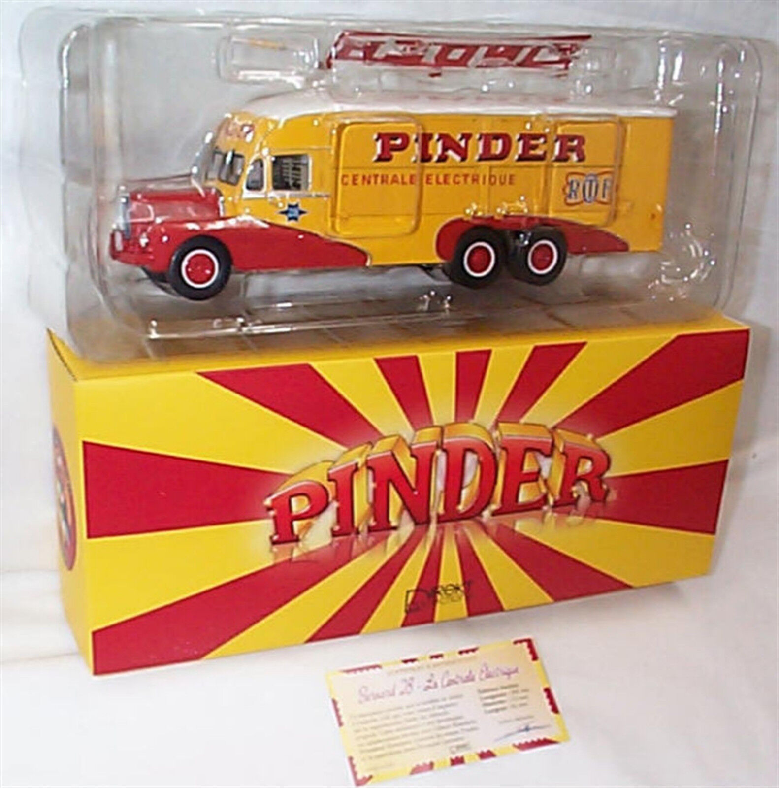 Pinder Circus Bernard 28 Electrical 1-43 scale New in Box Direkt Collection