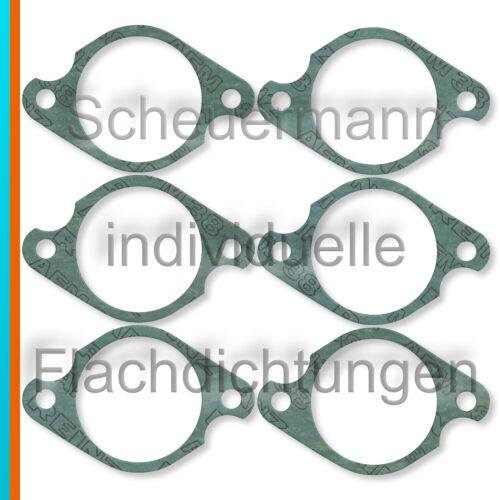 6x Dichtung Ansaugkrümmer-Zylinderkopf passend für Porsche 911 mit MFI 44mm