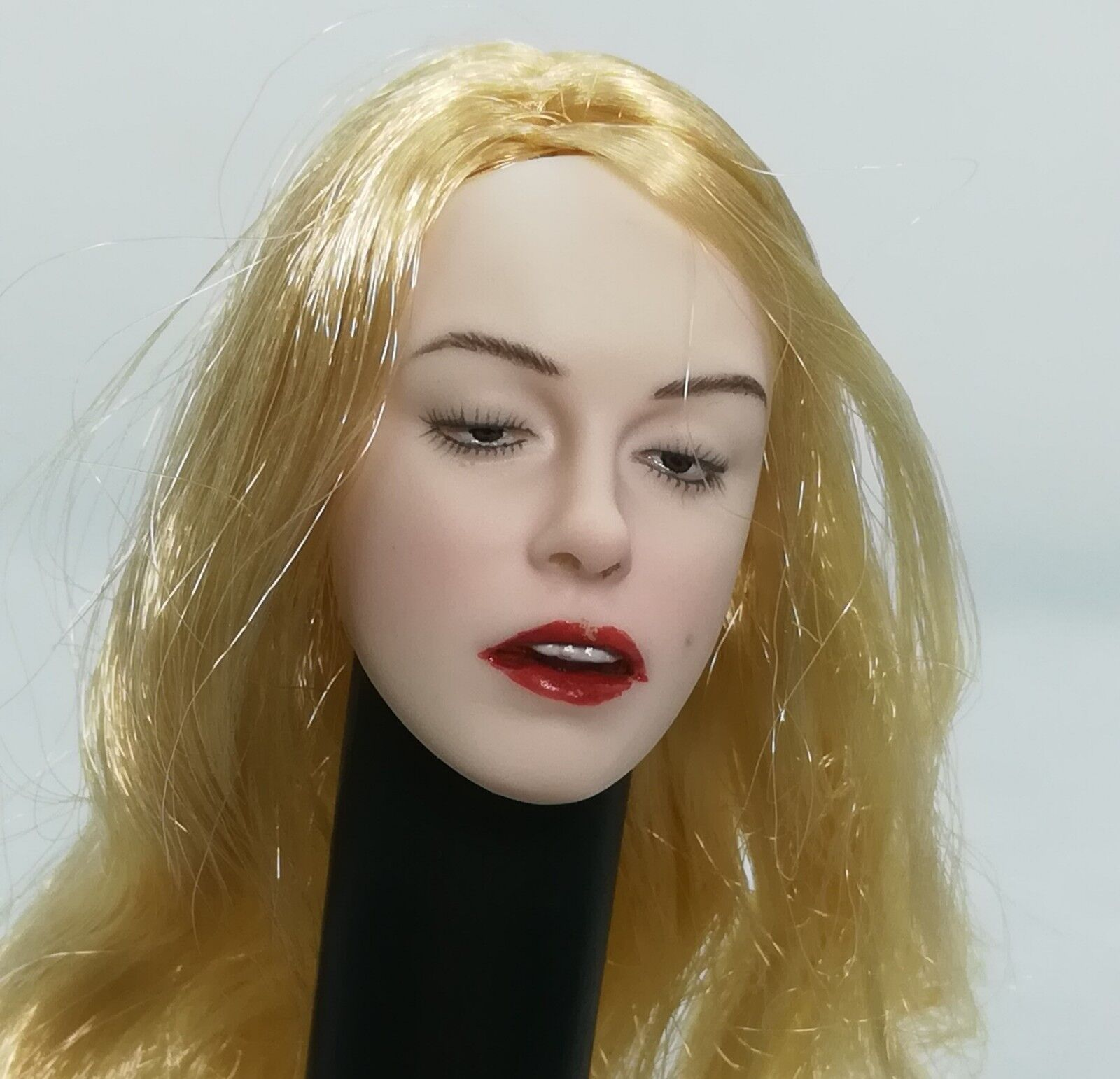 1   6 - skala schönheit mädchen kopf carving - w blonden locken haar besondere ver.f - 12 '' körper