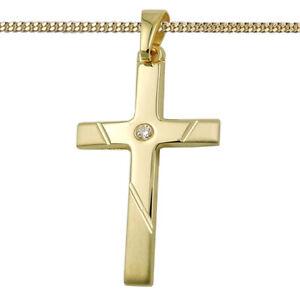 Anhänger Kreuz echt Gold 333 19 mm 8 Karat Gelbgold Konfirmation Kommunion