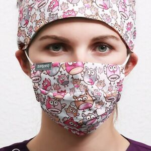 2pcs Masques de Protection Réutilisable en Coton Respirant Lavable en Tissus