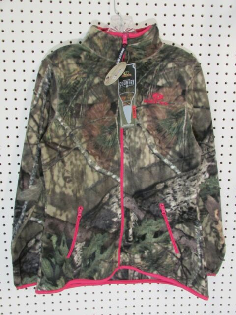 b889ba058aa Mossy Oak Women s Fleece Camo Full-zip Jacket MO Country Medium
