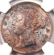 1883 Straits Settlements Victoria Half Cent 1/2C - NGC AU - $1,200 Value in XF