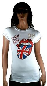 By M Spéciale T Amplified Waisted Strass shirt Édition Elegantly Stones Rolling 6vqwIO