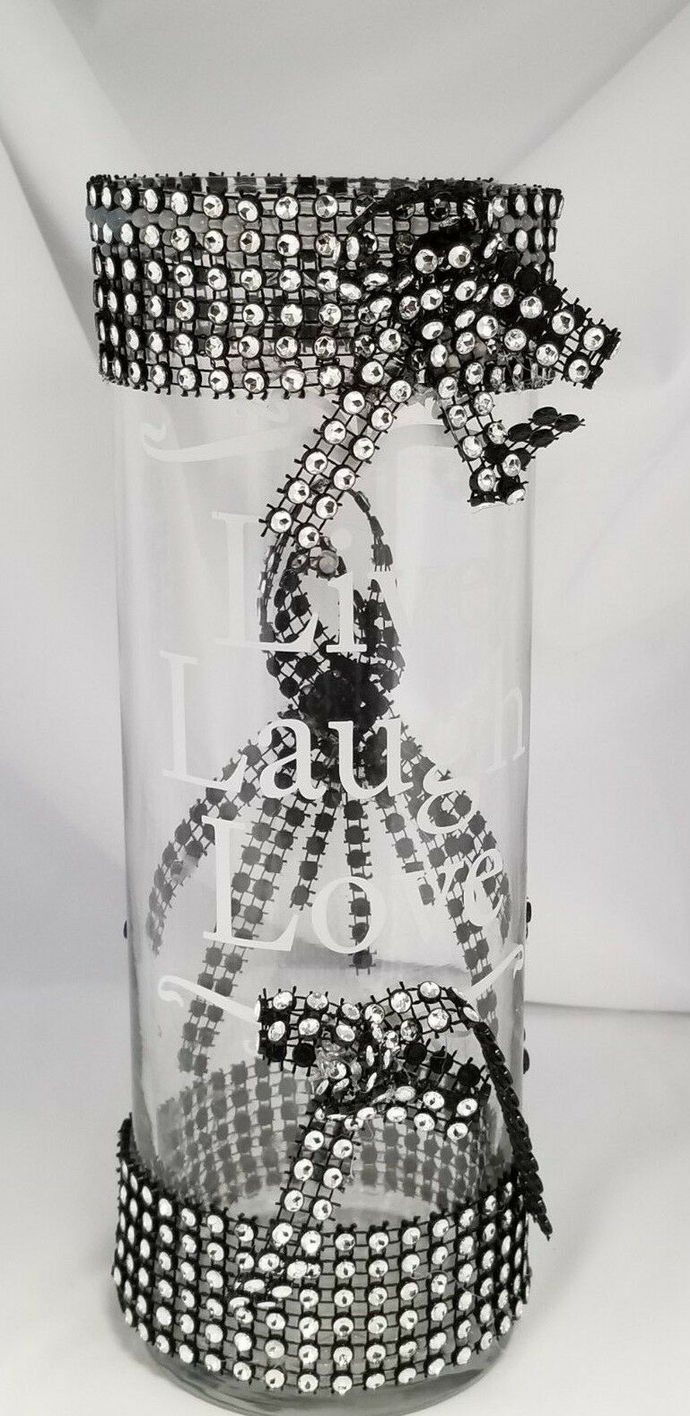 New CBH Bling Bling Centerpiece Handmade 10 inch Glass Vases SHIPPED IN US ONLY