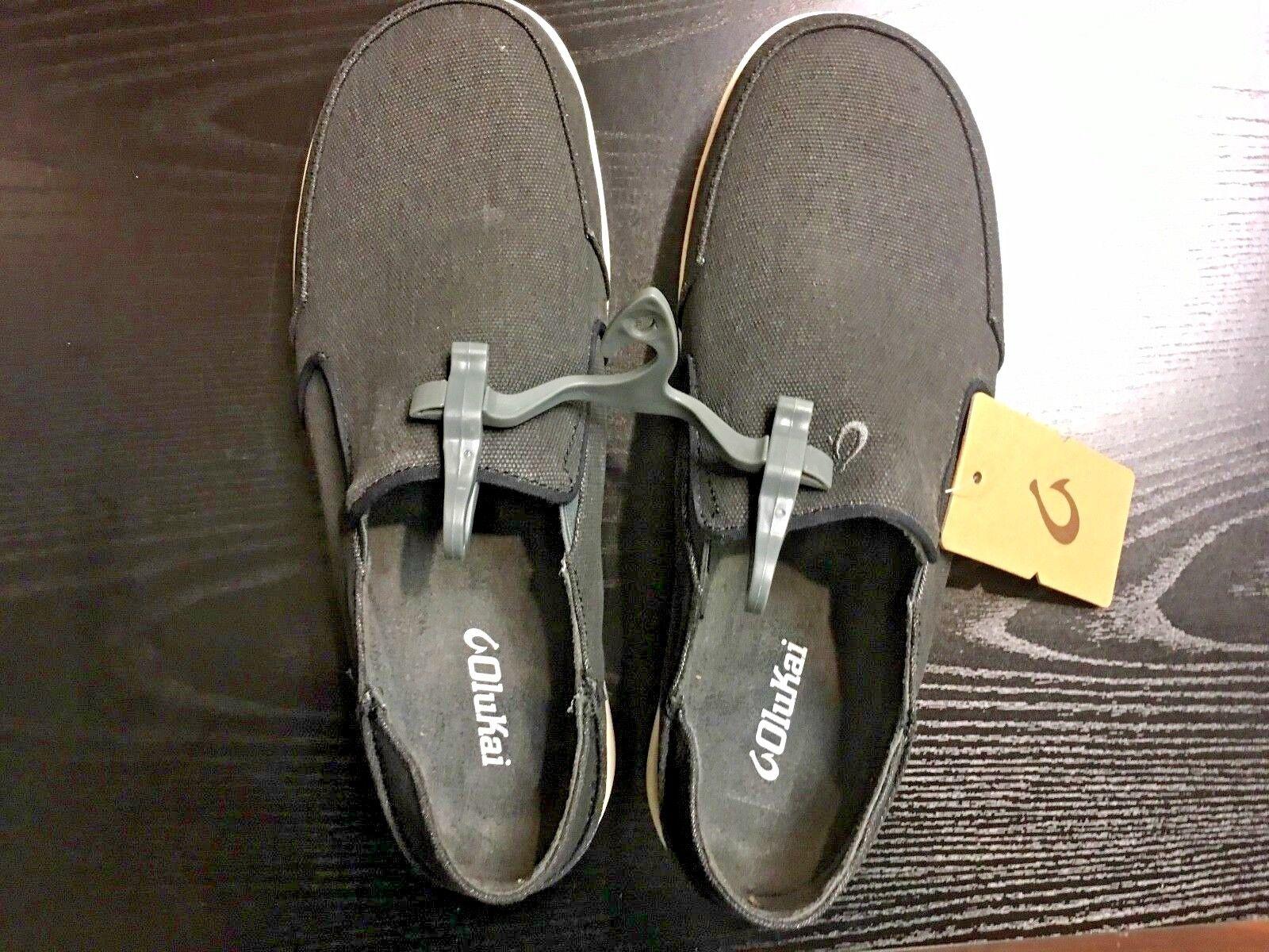 MENS OLUKAI NOHEA LOLE SLIP ON SANDAL zapatos CLAY negro   DK SHADOW Talla 11