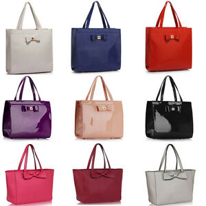 c7f83c1dc115 Large Designer Bow Shoulder Bags Women s Faux Leather Tote Bag Heavy ...