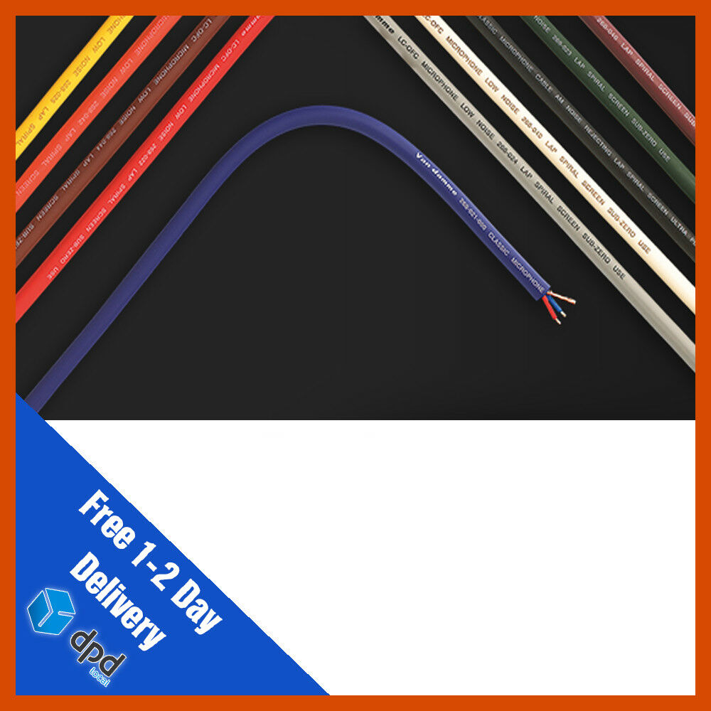 100 x Van Damme Pro Grade XKE Instrument Cable 100m All Colours   Guitar Cable