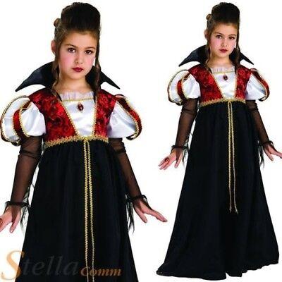 Les filles royal Vampira Vampire Dracula Halloween Costume Robe fantaisie enfant costume