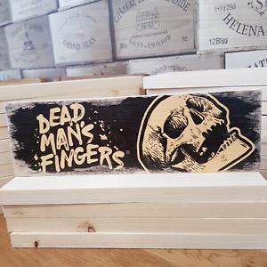 DEAD MANS FINGERS Rum Signs Plaques Man Cave Bar Wood Block Sign Vintage Retro