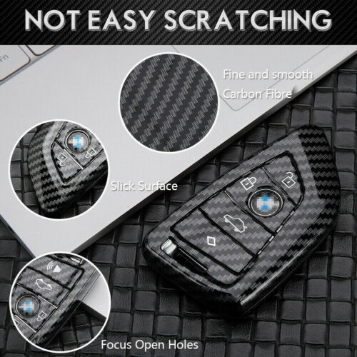 Carbon Fiber Remote Car Key Fob Chain Shell Fob Cover for BMW 2 5 6 Series X