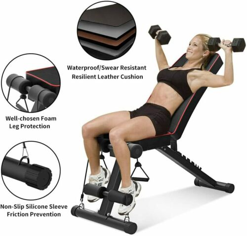 Details about  /Foldable Dumbbell Bench Weight Training Fitness Adjustable Workout Lifting Gym