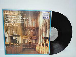 "J.S.BACH Toccata Organ Helmut Walcha LP 12 "" Archiv Produktion Privilege Spain"