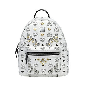 Details zu MCM Small BackPack Stark MMK6SVE19WT White Color