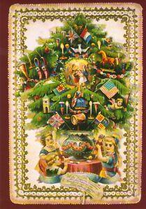 Weihnachtsbaum England.Details Zu Grußkarte Reprint Der Weihnachtsbaum Viktorianische Weihnachtskarte England
