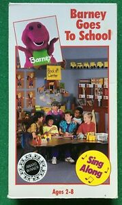 Barney And The Backyard Gang - Barney Goes To School - VHS ...