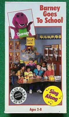 Barney And The Backyard Gang - Barney Goes To School - VHS ...