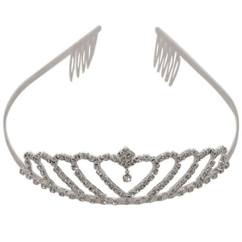 Krone Stilvolle Strass Prinzessin Stirnband Haarspange Diadem Hochzeit N5D2 1X
