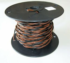 Heavy Duty Solid Core Electric Dog Fence Twisted Wire 20-14 Gauge 100' HDPE Coat
