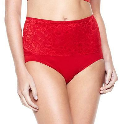 Ahh By Rhonda Shear Womens Seamless Brief with Lace