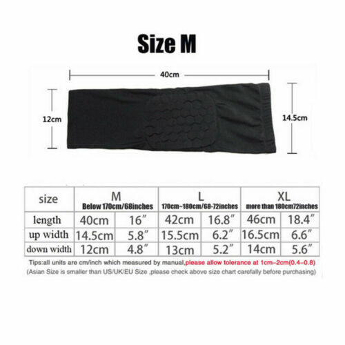 Details about  /Honeycomb Pad Elbow Sleeve Compression Support Arm Brace Support Pads Protective