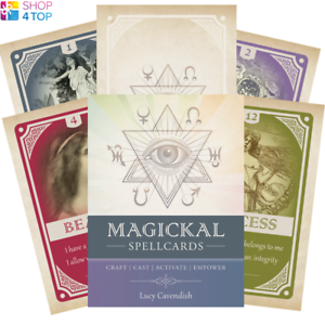 Magickal-Spellcards-Deck-Cards-Esoteric-Fortune-Telling-Blue-Angel-New