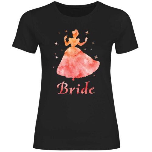 Damen T-Shirt JGA Gruppenshirt Hochzeit Bride Mädelsabend Trinkerbell fee