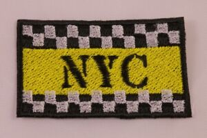 Embroidered-Retro-Vintage-Checkerboard-Taxi-NYC-New-York-City-NY-Patch-Iron-On