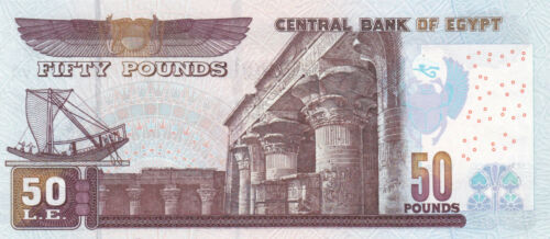 EGYPT 50 EGP POUNDS 2010 P-66j SIG//OQDA #22 UNC REPLACEMENT 400 SPACE OUT *//*