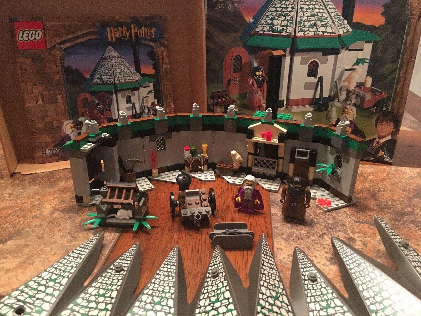 Lego  4707 299  Pieces Harry Potter Hagrid's Hut completare With uomoual & scatola  negozio a basso costo