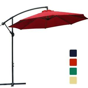 image is loading 10 ft offset cantilever patio umbrella outdoor market - Cantilever Patio Umbrellas