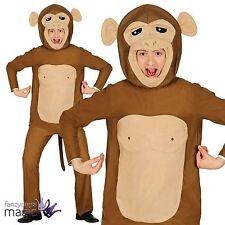 Adults Mens Ladies Monkey Chimp Ape Animal Zoo Jungle Fancy Dress Costume Outfit