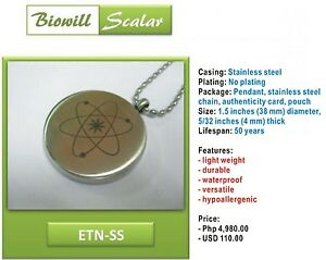 Details about NEW Authentic Biowill Quantum Scalar Energy Pendant