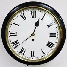 "Superb Antique 19thc Ebonised English 8 Day Single Fusee 12"" Dial Wall Clock"