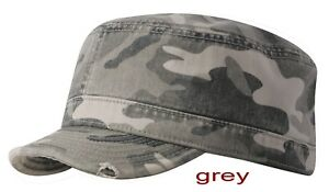 e27b099c Image is loading Camo-Military-Cap-with-Torn-Edge