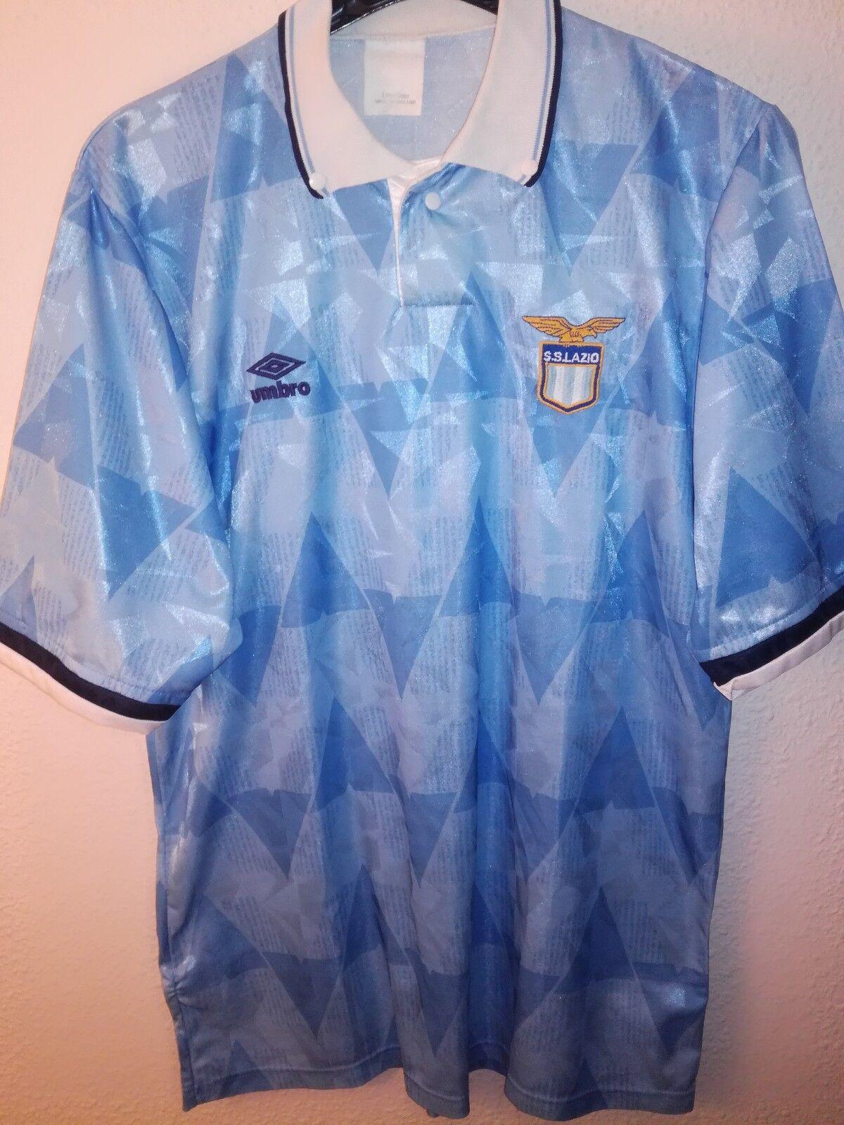 UMBRO vtg SS Lazio 1991-1992 soccer maglia vintage camiseta shirt calcio trikot