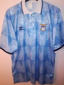UMBRO-vtg-SS-Lazio-1991-1992-soccer-maglia-vintage-camiseta-shirt-calcio-trikot