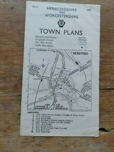 Gloucestershire & Monmouthshir AA Town Plans No.8 Cheltenham Gloscester Monmouth
