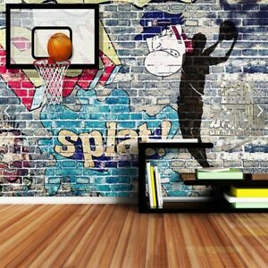 basketball sports 3d wallpaper mural rolls wall papers home decor tvimage is loading basketball sports 3d wallpaper mural rolls wall papers