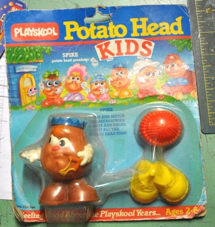 Potato Potato Potato Head Kids - SPIKE - Giocattolo anni 80 - Playskool - Fondo di magazzino 652a8d