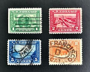 US-Stamps-397-400-Panama-Pacific-Exposition-Issue-Used