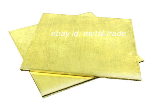 H62 Brass Flat Sheet Strip 8mm Thick Any Size Plate Bar Riveting Cutting Tool
