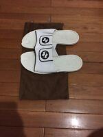 Mens Gucci Sandals Flip Flop Slide 9 US 10 Authentic White Leather